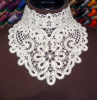 Advanced Embroidery Designs - FSL Battenberg Lace Choker Collar Set