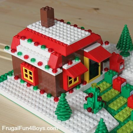 DIY Lego Advent Calendars - close up of gingerbread house