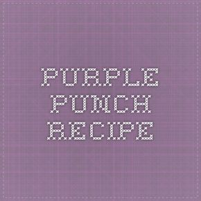 Purple Punch Recipe - We made this for our wedding reception and floated frozen blueberries in it. It was very well received! Tasty Tasty!  1 (6 oz.) can frozen lemonade concentrate, diluted to 3 c. 1 bottle (1 pt., 8 oz.) Welch's unsweetened grape juice 1 pkg. grape gelatin 2 c. hot water 1 qt. ginger ale Mix fruit juices. Chill. Dissolve gelatin in hot water. Add a few ice cubes to cool quickly. Add fruit juices and mix. Just before serving, add ginger ale and ice cubes.