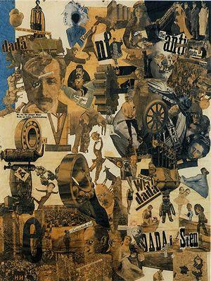 O Dadaismo é uma Vanguarda que critica e questiona a 1 Guerra Mundial. É anti arte, usa o fragmento, e redefine o objecto artístico, abolindo assim a lógica,a organização, a postura racional, trazendo para a arte um carácter de espontaneismo e gratuidade total. A mistura de fontes tipográficas,  e a mistura de montagens e colagens são técnicas que se tornam parte do desenvolvimento do design gráfico.