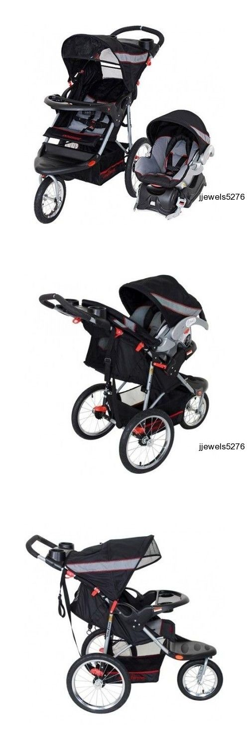 Baby: New Jogging Baby Stroller Travel System Car Seat Infant Carriage Jogger Buggy BUY IT NOW ONLY: $198.88