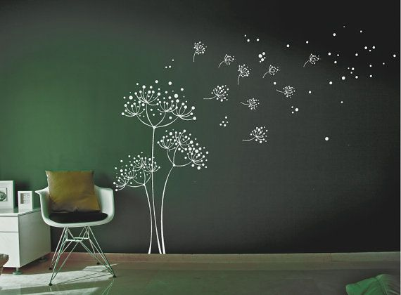 Hey, I found this really awesome Etsy listing at https://www.etsy.com/listing/155824592/dandelion-wall-decal-wall-sticker
