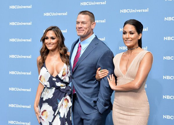 Nikki Bella Photos - (L-R) Nikki Bella, John Cena and Brie Bella attend the NBCUniversal 2016 Upfront Presentation on May 16, 2016 in New York, New York. - NBCUniversal 2016 Upfront Presentation
