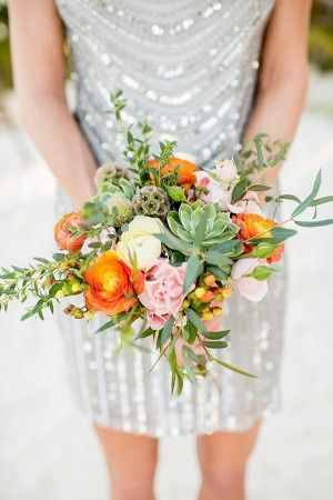 #metallicbridesmaids #bridesmaids #bridesmaiddresses #dresses #metallic #sequinned #silver #gold #grey #eternalbridal http://www.ruffledblog.com/relaxed-destination-wedding-in-tulum/