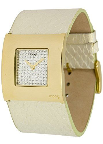Moog Paris-Petals Damen-Armbanduhr Zifferblatt silber Armband champagner Klare in haut-Schlange, hergestellt in Frankreich-m41741-005 - http://uhr.haus/moog-paris/moog-paris-petals-damen-armbanduhr-zifferblatt-4