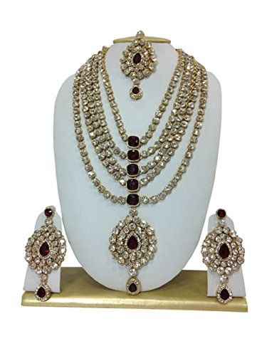 Indian Bollywood Style Gold Plated Maroon Stone Kundan Cz... https://www.amazon.ca/dp/B01LZWEGRX/ref=cm_sw_r_pi_dp_x_vA6WybFH2E82Y