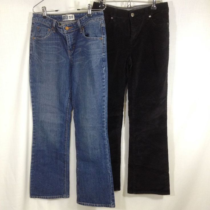 Levi Strauss Signature Denim Jeans & Faded Glory Black Corduroy Pants Size 6   #Levis #BootCut #womensfashion