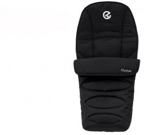 Keep baby's toes nice and warm with the amazing Oyster 2 Foot Muff in Black.