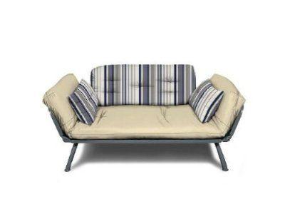 American Furniture Alliance Modern Loft Collection Futon Mali Flex Combo,  Newport Navy Stripe:Amazon
