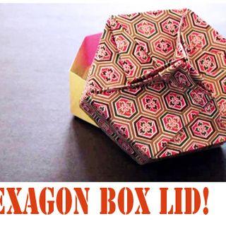 How to make an Origami Hexagon Box Lid (Modular 3 unit)!