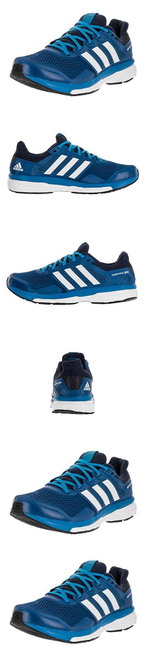 Adidas Supernova Glide 8 Running Shoe - Men's EQT Blue/White/Collegiate Navy, 9.0
