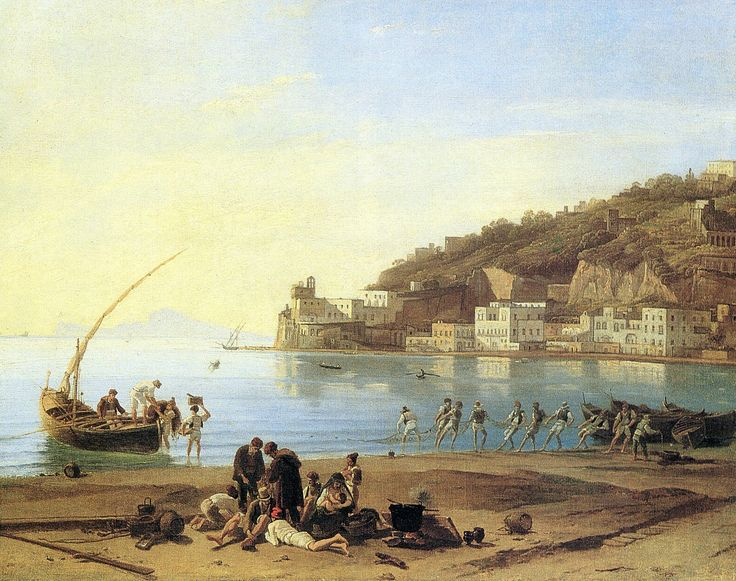Sylvester Shchedrin (1791-1830) (attributed) - view of Mergellina with the Church of Santa Maria del Parto.