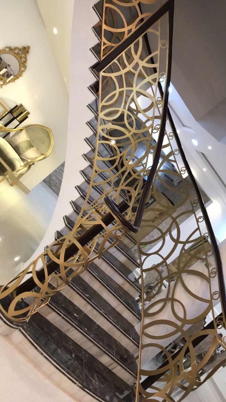 Saudiarabia Riyadh Doors Gates Design Cnc Lifestyle Modern Cadd Beautiful Metaldoor Lasercut ا Stair Railing Design Stairs Design Staircase Design