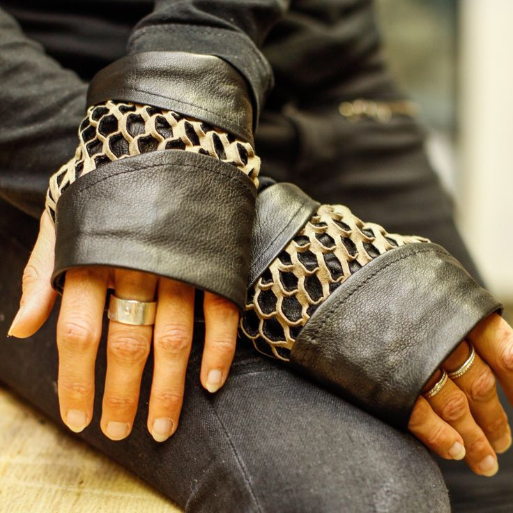 Leather gloves by socapeleatherworks On Etsy #exclusive #leather #fingerless #gloves #socape #madeincapetown