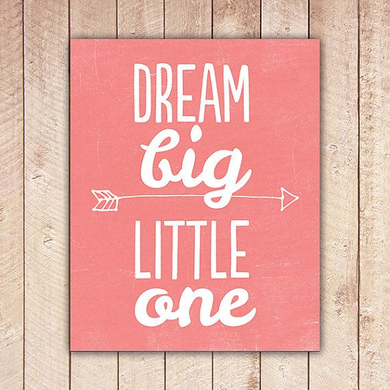 Nursery Printable Dream Big Little One by PaperCanoePrintables