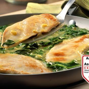 Lemon Chicken Scallopini with Spinach Recipe