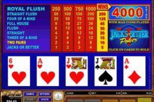 Play video poker jacks or better