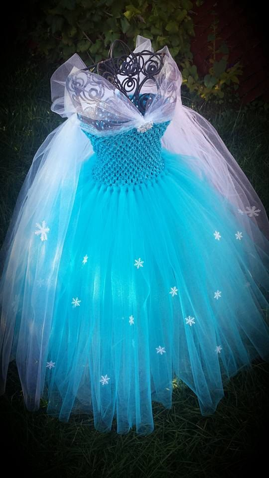 Queen Elsa Frozen inspired tutu dress por Aidascreativecorner