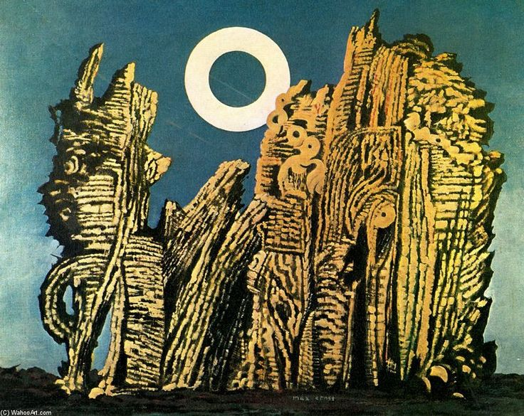 Max Ernst >> La foresta grigia  |  (Oil, artwork, reproduction, copy, painting).