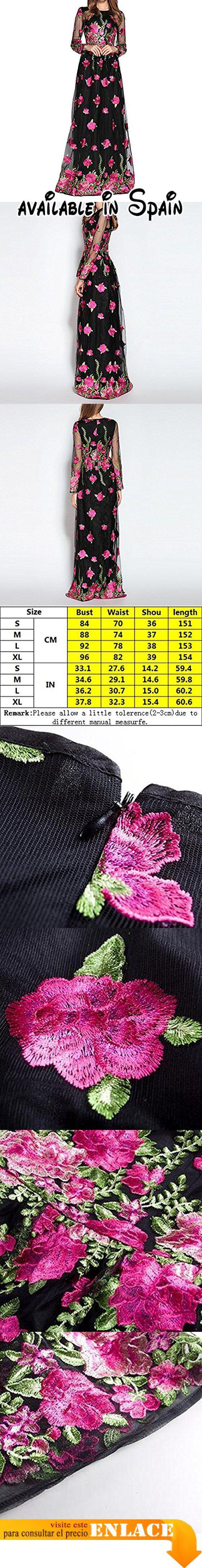 B072NHNJQ9 : Retro Con Cuello Redondo Cintura Gasa Bordado Mangas Largas Cintura Falda VestidoOneColor-L. Por favor refiérase a la izquierda elegir su propio tamaño adecuado. Material: fibra de poliéster. Alta calidad y barato cómodo y saludable.. Enviados desde China la hora de llegada es de 15 a 25 días por favor espere pacientemente.