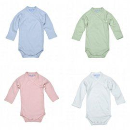 Organic Cotton Long Sleeve Side Snap Onesie