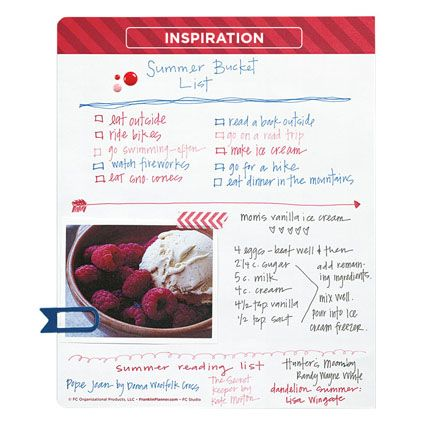 The #FCStudio planner gives you pages for your inspiration.