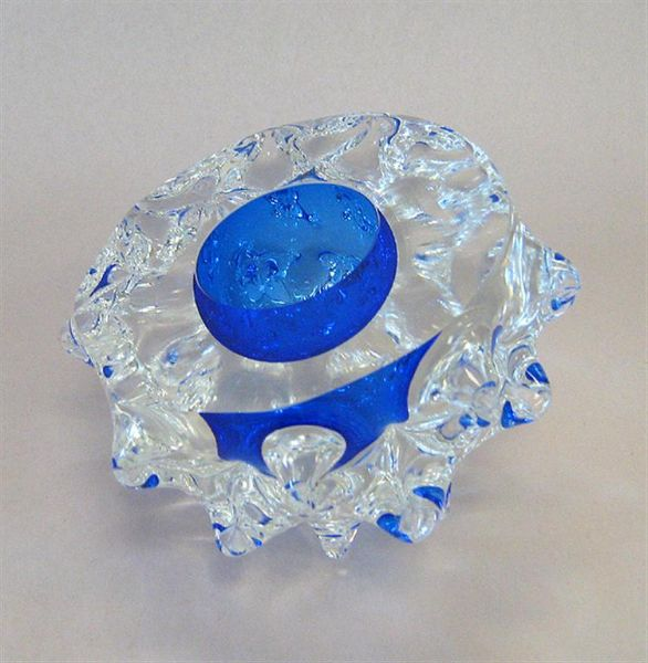 Glass Spiky Geode - No. 35 large blue by Rebecca Heap available to purchase from The little GALLERY of fine ARTS