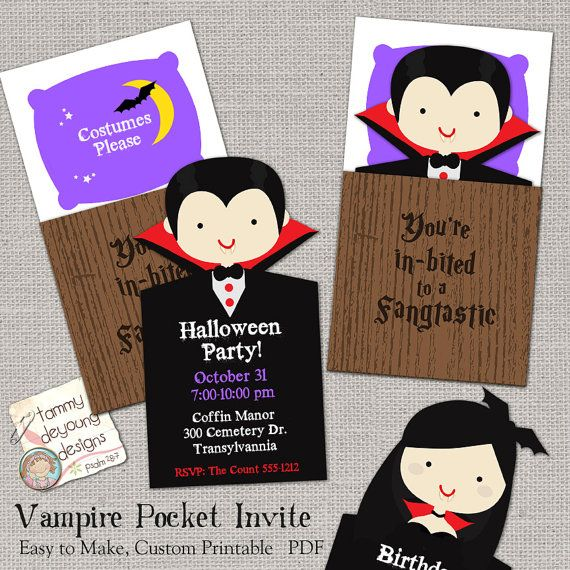 Vampire Halloween Party Invitation Printable, Custom Halloween Card With  Coffin, Boy Or Girl Vampire Kids Digital Halloween Birthday Invite