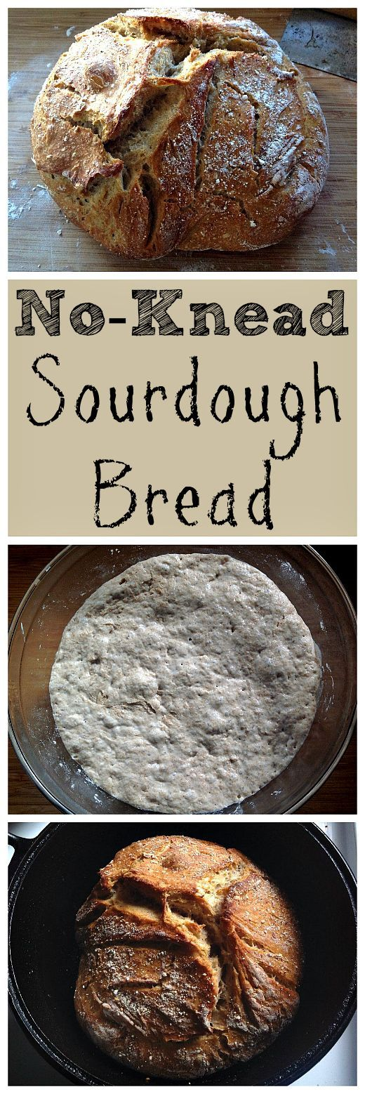 Make this simple no-knead sourdough bread. Baked in a dutch oven, it comes out perfect every time!