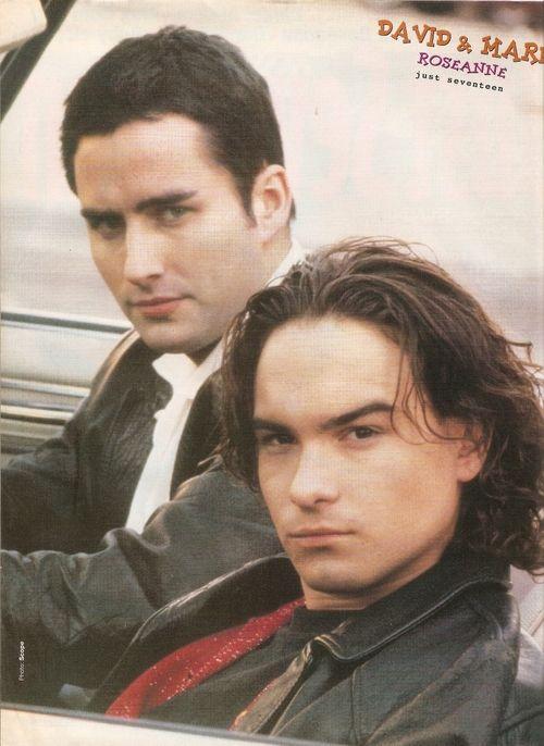 Johnny Galecki (Big Bang Theory) & Glenn Quinn (Angel) (aka Mark & David from Roseanne). <3