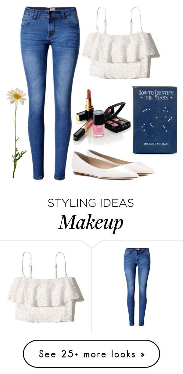 """""""Untitled #383"""" by pinkypenguin04 on Polyvore featuring WithChic, Hollister Co., Jimmy Choo and Chanel"""