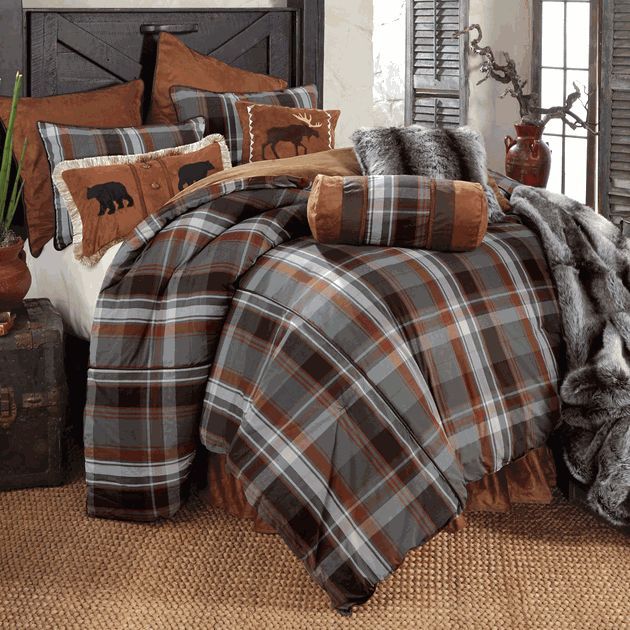 Glacier Bay Plaid Bear Amp Moose Bed Set Queen Bedroom