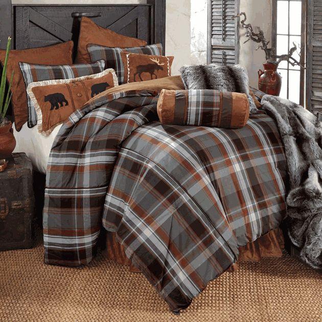 Glacier Bay Plaid Bear Amp Moose Bed Set Queen Bedroom