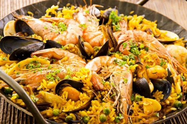 Паэлья из морепродуктов: рецепт