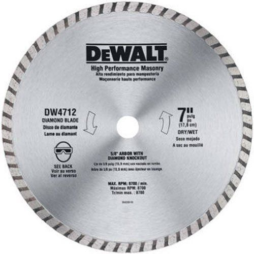 Dewalt Dw4712b 7 Inch High Performance Diamond Masonry Blade Dewalt Circular Saw Blades Dewalt Diamond Blades