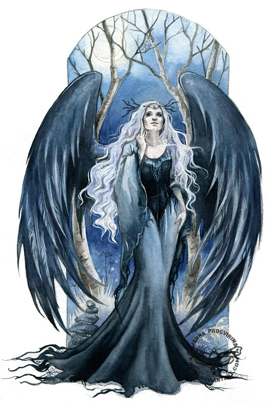 Angel of Night by JannaFairyArt on DeviantArt * Angel Fantasy Myth Mythical Mystical Legend Wings Feathers Faith Valkyrie Odin God Norse Death Dark Light Engel d'ange di angelo de Ángel Ангел anděl wróżka de anjo angyal
