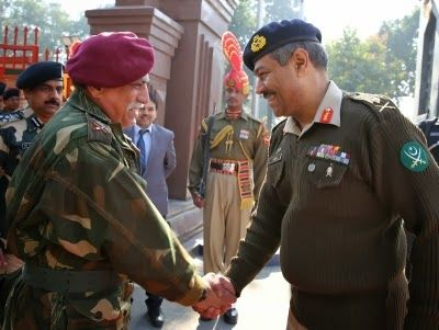 Wagah-Attari Border, Dec.24 (ANI): Directors General of Military Operations (DGMOs) of India and Pakistan met on the Pakistan side of the Wagah Border on Tuesday to discuss ways to reduce tension along the Line of Control (LoC) that separates the two countries.