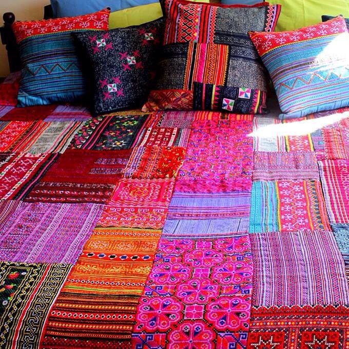 Boho chic bed spread