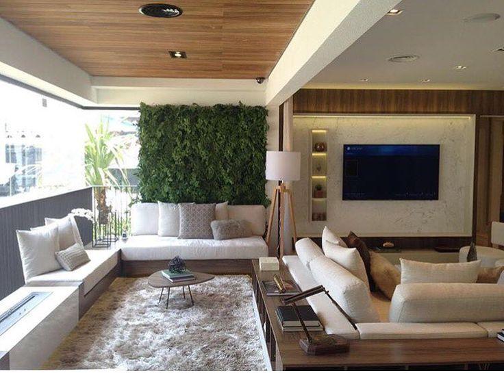 """8,203 curtidas, 58 comentários - Decor•house•Home•Casa•Int•arq (@_homeidea) no Instagram: """"Integração total entre os ambientes por Claudia Albertini, com destaque para o jardim vertical.…"""""""