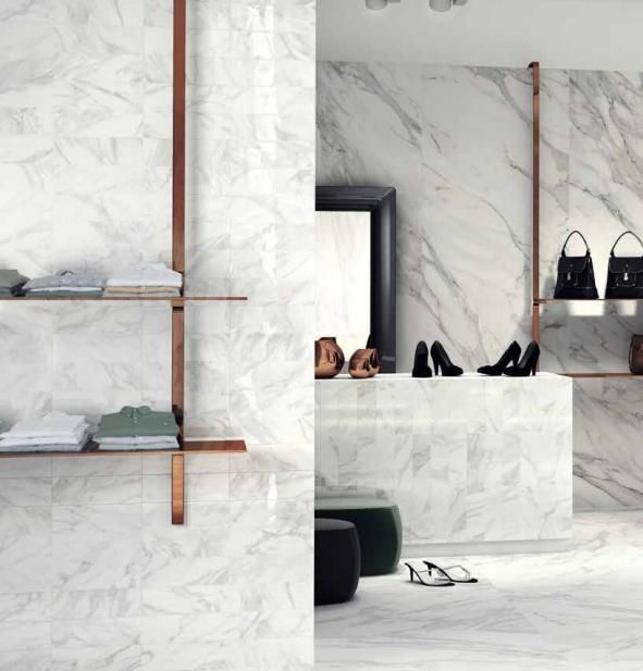 Edilgres | Bernini #Pure, one of a kind #white that envelops all the brilliance and #intensity of its different nuances, visible to the eye and perceivable to all the senses, able to fill every space with refined #elegance. Bernini unites the creative energy of a white #marble that is variable and bold in the depth of its veining, that renews itself through a linear, essential #design to give life to #contemporary spaces with big personalities.