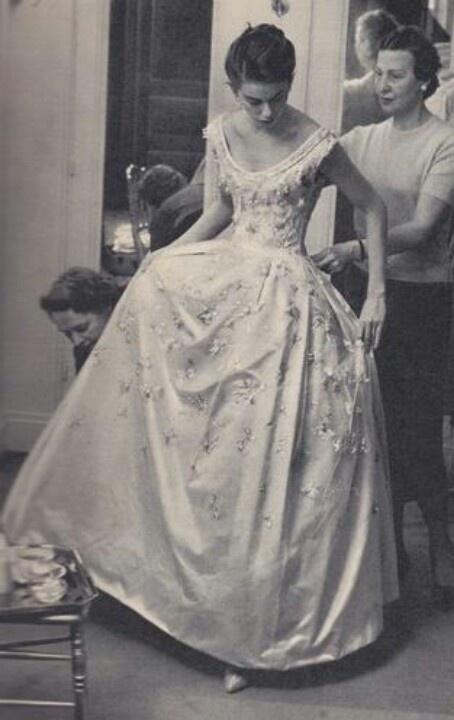 Dior Wedding Dress 1950s Le Couturier Vintage