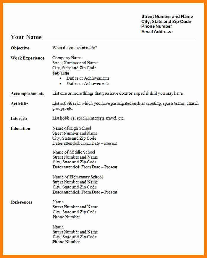 Free Resume Templates Pdf Lovely 5 Cv Format Pdf Free In 2020