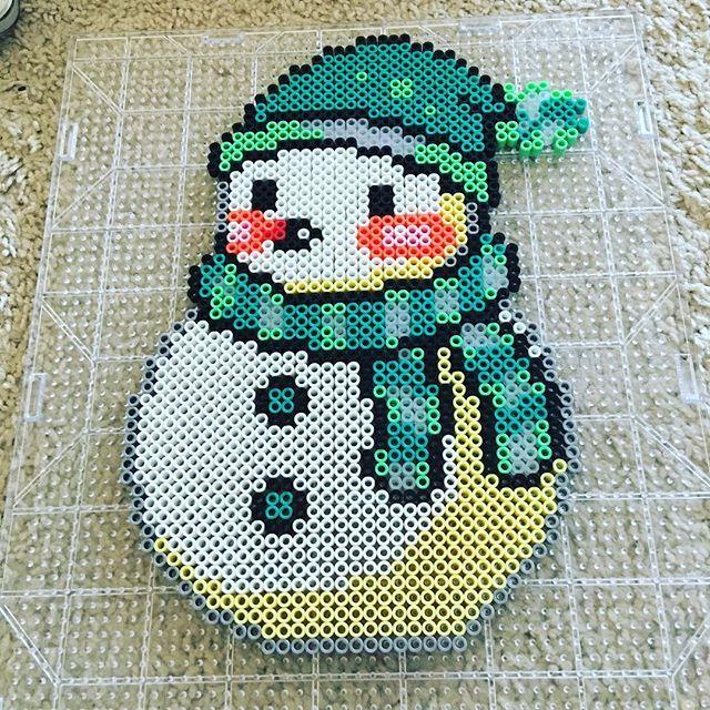 Snowman perler beads by lily_tyler_yonemori