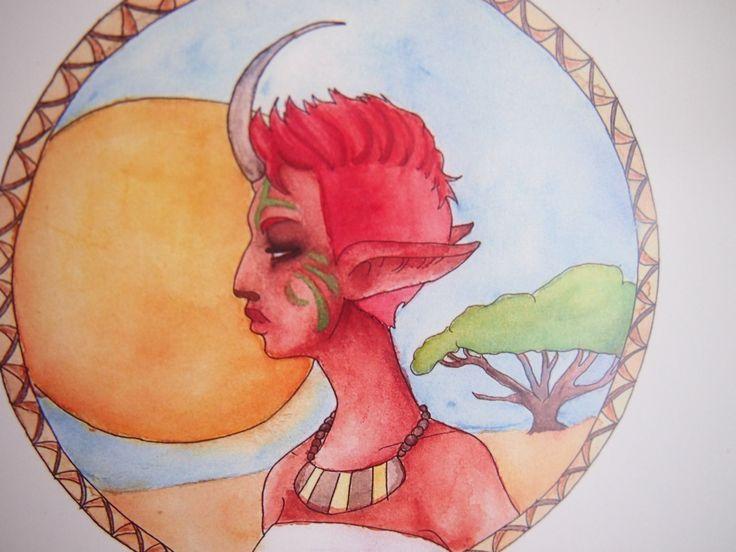 Fantasy Tribal Woman A4 Digital Print by Anorichan on Etsy