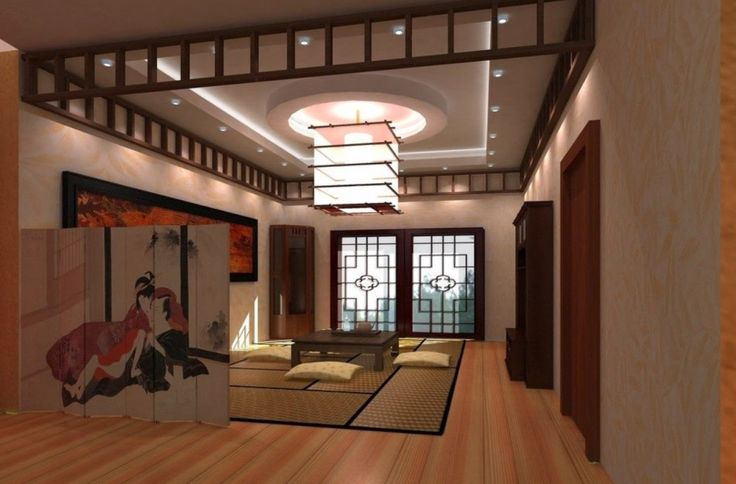 Interior Reasons Why Japanese Interior Design is Popular: Awesome Living Room Design Ideas With Hardwood Floors And Carpeting Traditional Japanese Style And Attractive Pendant Lamp And Wooden Floor Also Carpet And Picture Frame Decor And Wooden Coffee Table