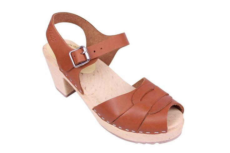 Lotta From Stockholm Sabots suédois: sabots-sandales en cuir marron clair: Amazon.fr: Chaussures et Sacs