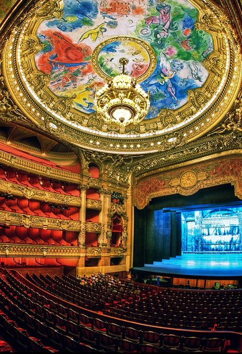 Opéra Garnier, Paris, France  If only to imagine myself in the arms of the phantom. <3