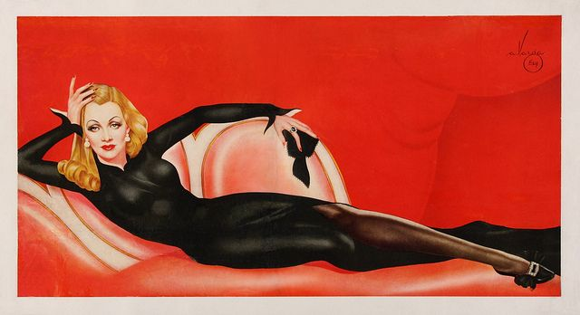 Marlene Dietrich painted in 1941 by pin-up artist Alberto Vargas (1896 – 1982)