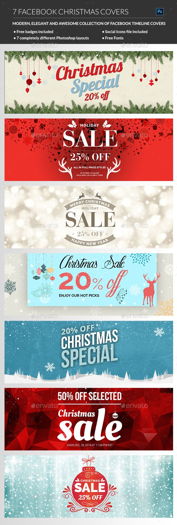 Christmas Facebook Cover Templates PSD #design Download: http://graphicriver.net/item/christmas-facebook-cover/13949268?ref=ksioks