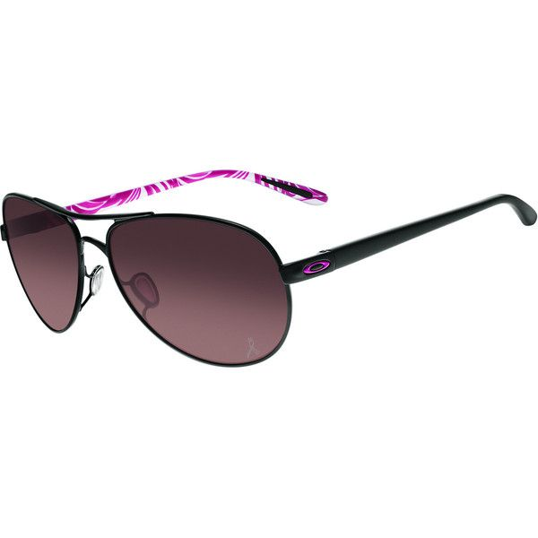 Oakley FeedBack Breast Cancer Awareness Sunglasses ($128) ❤ liked on Polyvore featuring accessories, eyewear, sunglasses, wire glasses, oakley eyewear, clear eyewear, wire sunglasses and lens glasses